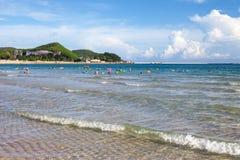 大东海海滩,三亚,中国 库存照片