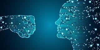 大乱砍概念的数据和人工智能 向量例证