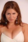 大乳房女性纵向 免版税图库摄影