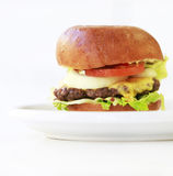 大乳酪汉堡 库存照片