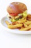 大乳酪汉堡 免版税库存图片