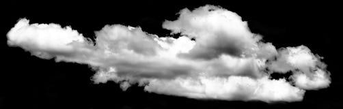 大云彩被隔绝的黑背景 库存图片