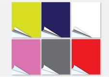 大五颜六色的卷毛页 库存例证