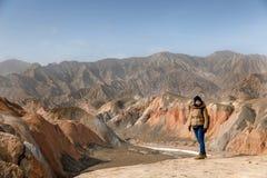 大五颜六色的山在中国 免版税库存图片