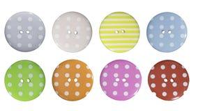 大五颜六色的被仿造的按钮 免版税库存照片
