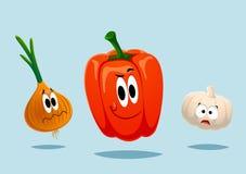 大五颜六色的组蔬菜 免版税图库摄影