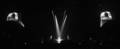 大人小孩双拍档音乐会在蒙特利尔 免版税库存照片