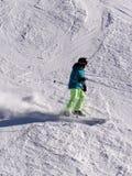 大人物的滑雪者 库存图片