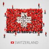 大人以瑞士旗子的形式 瑞士联邦 瑞士概念 皇族释放例证