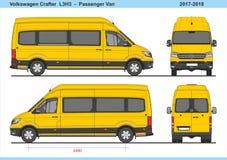 大众会工艺的人小客车L3H3 2017-2018 皇族释放例证