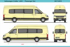 大众会工艺的人小客车L4H3 2017-2018 皇族释放例证