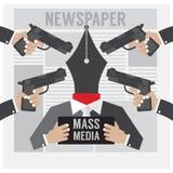 大众传播媒体是人质 免版税库存照片