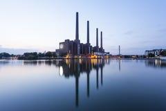 大众工厂在沃尔夫斯堡,德国 免版税图库摄影