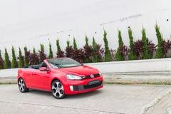 大众高尔夫球GTI敞蓬车2013模型 免版税图库摄影