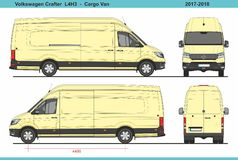 大众Crafter Cargo范L4H3 2017-2018 库存例证