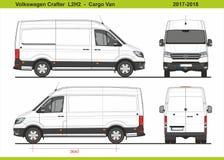 大众Crafter Cargo范L2H2 2017-2018 向量例证