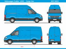 大众Crafter Cargo范L2H3 2017-2018 皇族释放例证