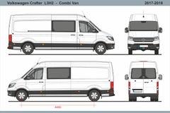 大众Crafter Combi范L3H2 2017-2018 皇族释放例证