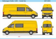 大众Crafter Combi范L3H3 2017-2018 库存例证