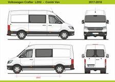 大众Crafter Combi范L2H2 2017-2018 皇族释放例证