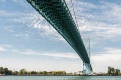 大使桥梁温莎安大略 免版税库存图片