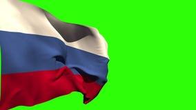 大俄罗斯国旗吹 影视素材