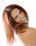 大俏丽的微笑妇女 图库摄影