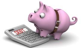 大债务 财务的概念 库存照片