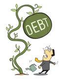 大债务 免版税库存照片