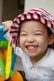 大儿童愉快的微笑 库存照片