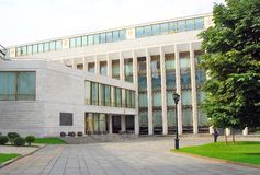 大克里姆林宫音乐堂 克里姆林宫莫斯科 科教文组织世界遗产站点 免版税图库摄影