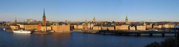 大全景斯德哥尔摩 免版税库存照片