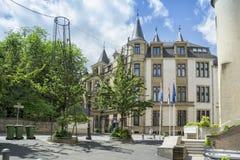 大公宫殿看法在卢森堡市 免版税库存照片
