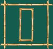 大写字母O做了现实棕色干燥竹杆里面木棍子框架 向量例证