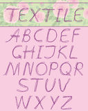 大写字母textil 免版税库存图片