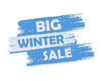 大冬天销售 库存图片