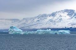 大冰山在离格陵兰的海岸的附近 库存照片