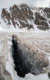 大冰裂缝 库存图片