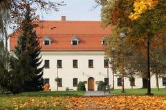 大别墅在Havirov在秋天 图库摄影