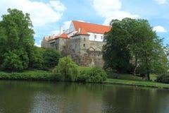 大别墅在Horsovsky Tyn 免版税库存图片