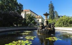 大别墅庭院(联合国科教文组织)在Kromeriz 免版税库存图片