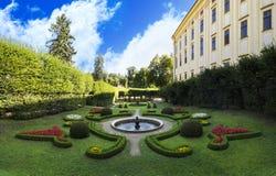 大别墅庭院(联合国科教文组织)在Kromeriz 库存照片