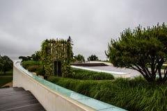 大别墅拒马Blanc豪宅庭院,圣Emilion,右岸,红葡萄酒,法国 免版税库存照片