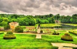 大别墅的de拉洛希Courbon庭院 库存图片