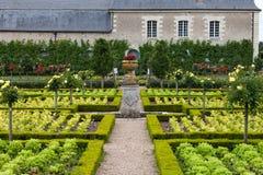 大别墅的de科隆比耶尔庭院。 免版税库存图片