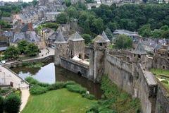 大别墅, Fougeres,布里坦尼,法国 免版税库存照片