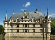 大别墅AzayleRideau,卢瓦尔河,法国 免版税库存图片