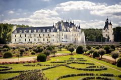 大别墅chenonceau de法国Loire Valley 库存照片