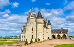 大别墅d `昂布瓦斯,其中一座城堡在卢瓦尔河流域-法国 库存照片