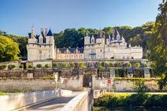 大别墅d'Usse,法国 免版税图库摄影
